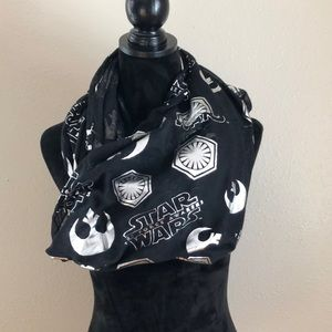 Black and silver Star Wars infinity scarf